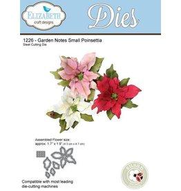 Elizabeth Crafts design dies Garden notes Small Poinsettia 1226
