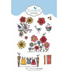 Elizabeth Craft Designs Elizabeth Craft Designs clearstamps Laundy Party CS083