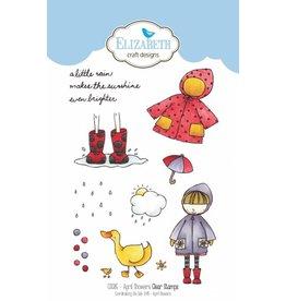 Elizabeth Crafts Design clearstamps April Showers CS085
