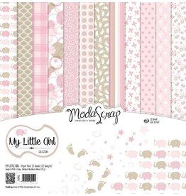 Elizabeth Crafts Design papier My Little Girl 30.5 x30.5 (12x12)  MSC014