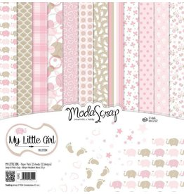 Elizabeth Crafts Design papier My Little Girl 15 x15  (6x6)  MSC013