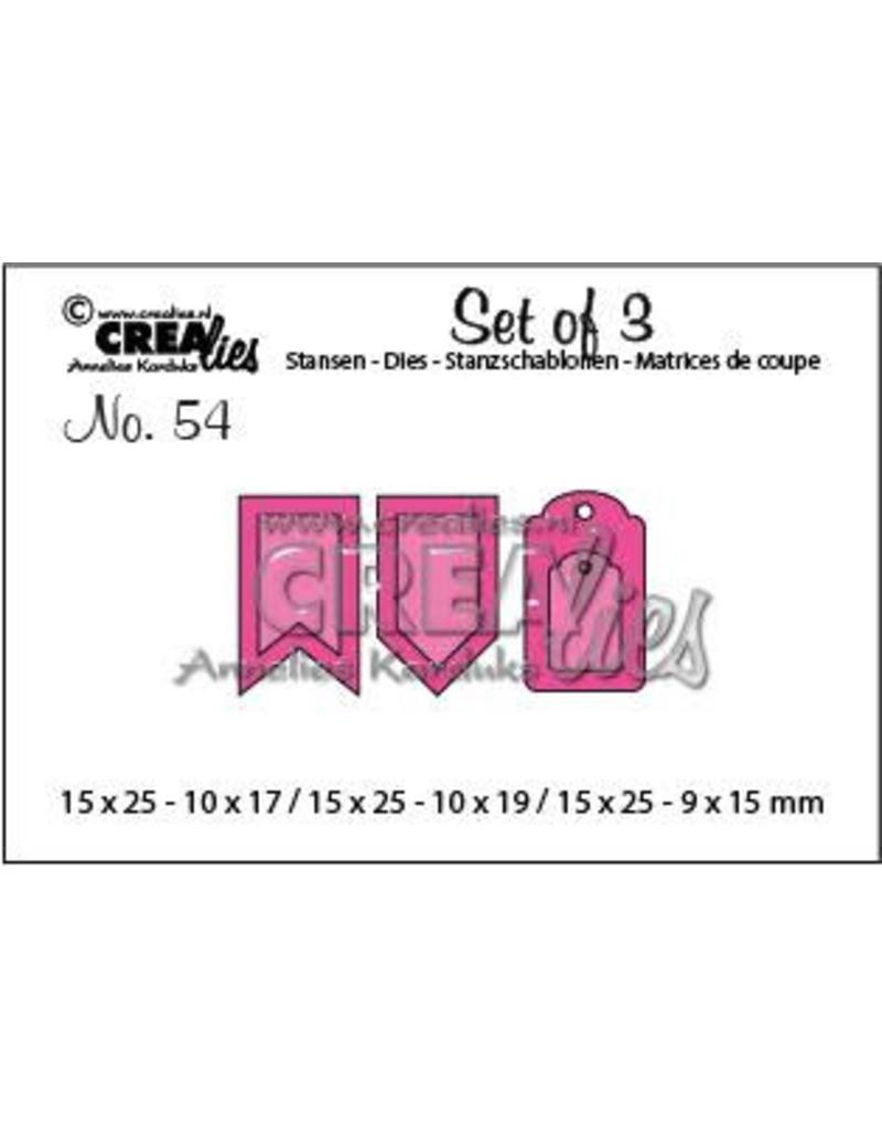 Crealies Set of 3 no. 54 Accenten A CLSet54