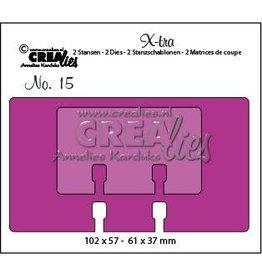 Crealies X-tra no. 15 memorydex + memorydex mini CLXTRA15 102 x 57 mm - 61 x 37 mm