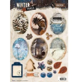 Studio Light Easy 3D Stansvel A4 Winter Trails nr 629 EASYWT629