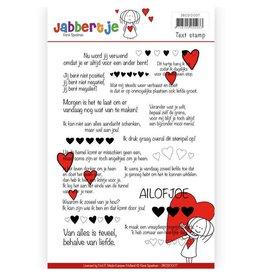 Jabbertje Textstamp - René Speelman - Jabbertje - NL