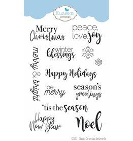 Elizabeth Crafts Design clearstamps Classic Christmas Sentiments CS101