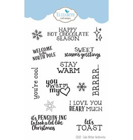 Elizabeth Crafts Design clearstamps Cute Winter Sentiments CS102