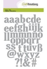 Craft Emotions CraftEmotions Die - alfabet kleine letters Card 10,5x14,8cm