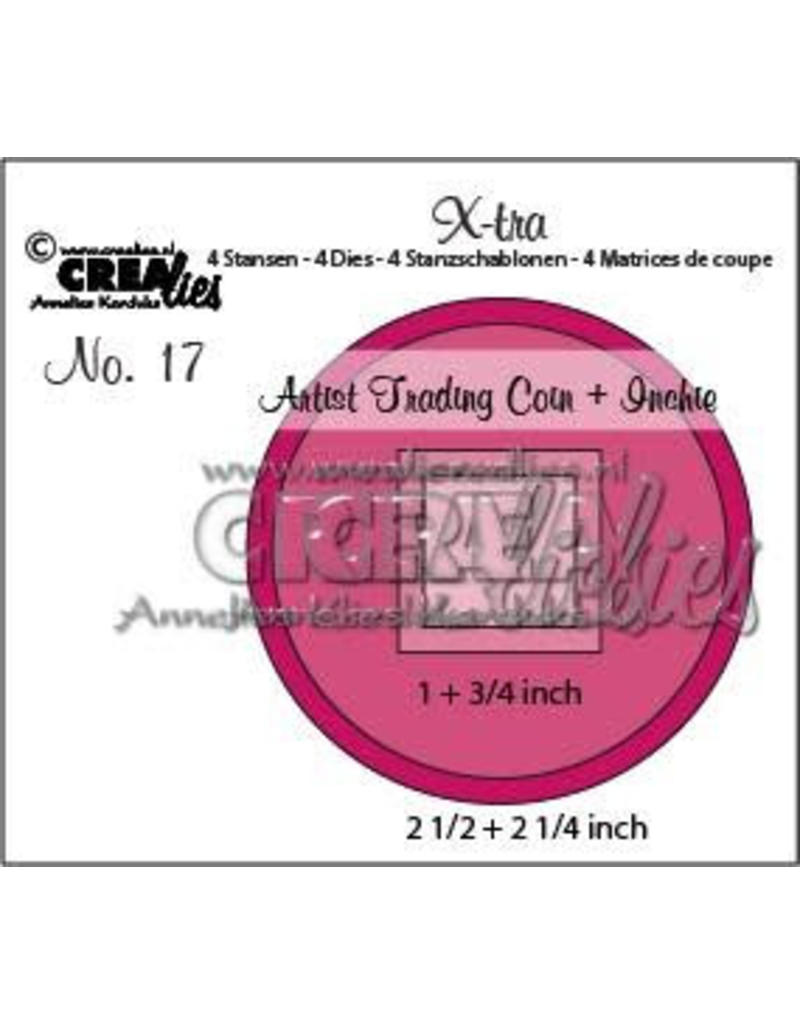 Crealies X-tra no. 17 Artist Trading Coin and Inchie CLXTRA17 2 1/2 inch + 2 1/4 inch