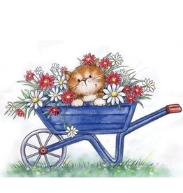 Wild Rose Clear Stamps Wild Rose Studio`s A7 stamp set Cat in Wheelbarrow CL516