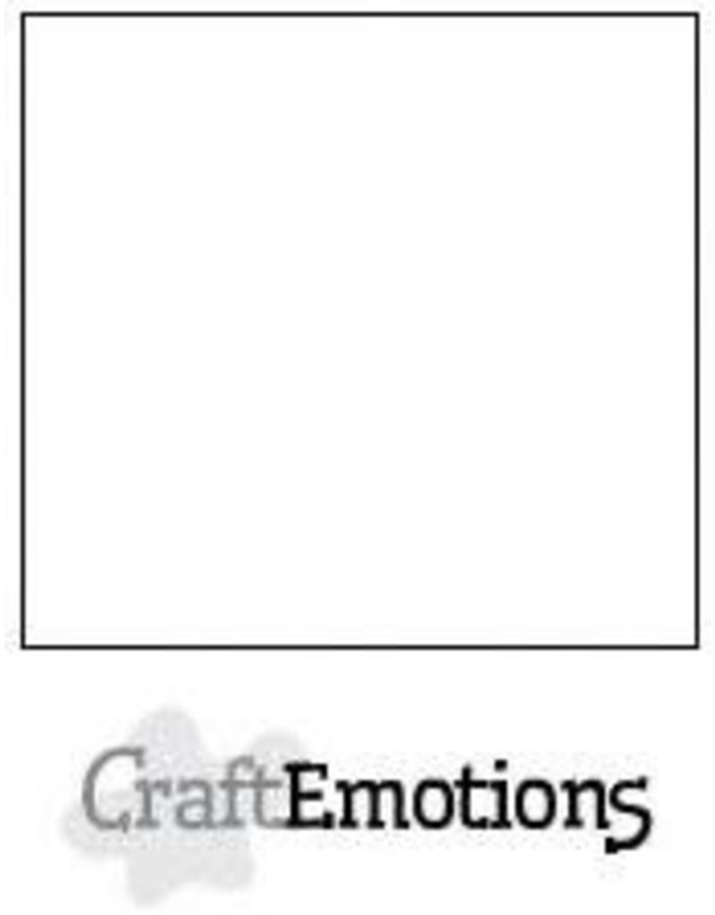 CraftEmotions karton glad 10 vel wit 30,0x30,0cm 200gr