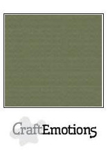 Craft Emotions CraftEmotions linnenkarton  legergroen 30,0x30,0cm