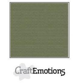Craft Emotions CraftEmotions linnenkarton  legergroen 30,0x30,0cm