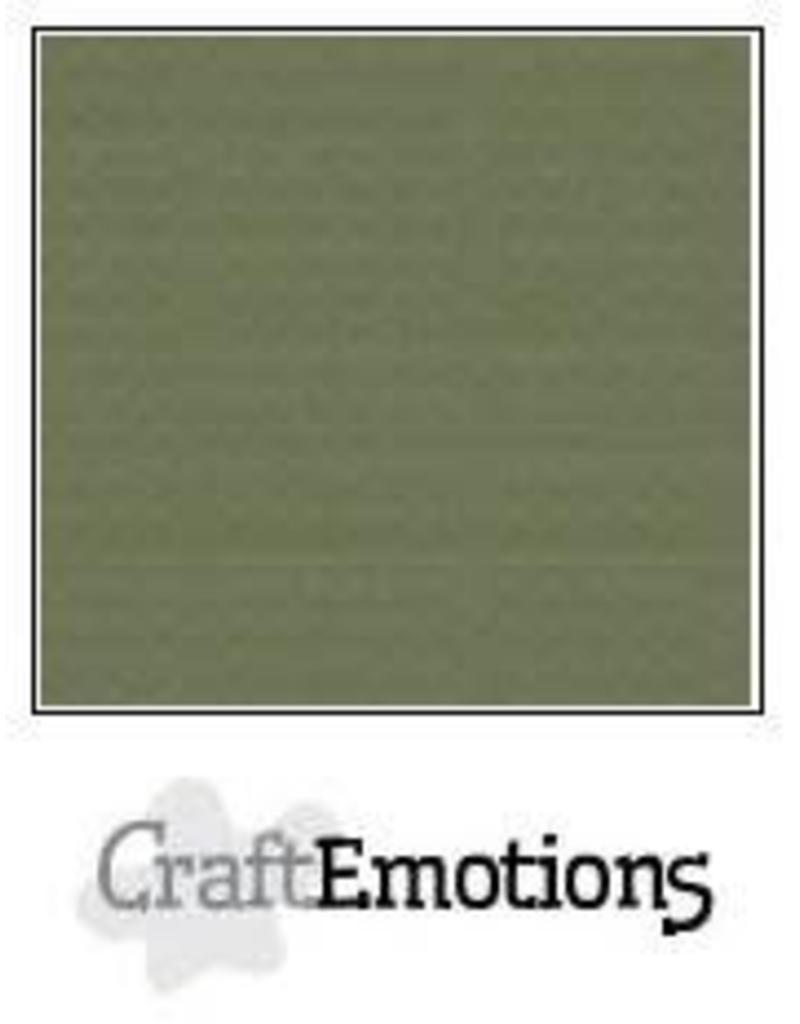 CraftEmotions linnenkarton 10 vel legergroen 30,0x30,0cm