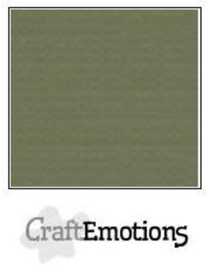 CraftEmotions linnenkarton  legergroen 30,0x30,0cm