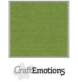 Craft Emotions CraftEmotions linnenkarton  mosgroen 30,0x30,0cm