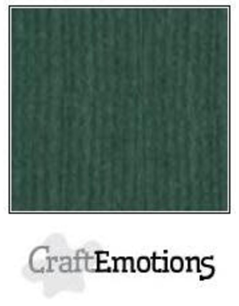 CraftEmotions linnenkarton  smaragdgroen 30,0x30,0cm