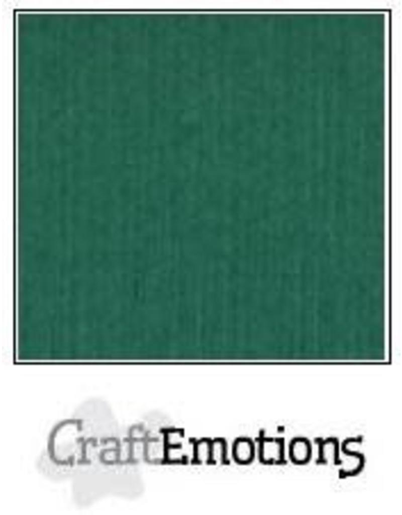 Craft Emotions CraftEmotions linnenkarton  kerstgroen 30,0x30,0cm
