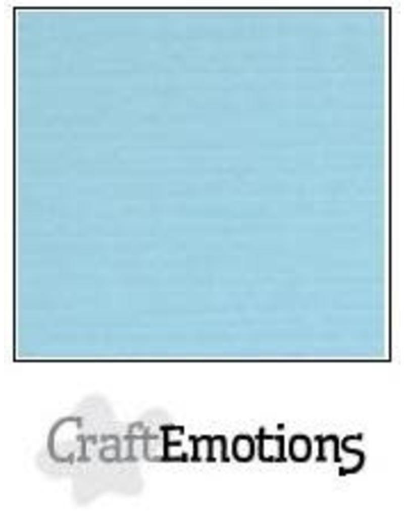 CraftEmotions linnenkarton  lichtblauw 30,0x30,0cm