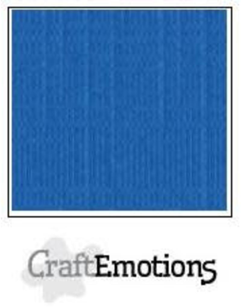 Craft Emotions CraftEmotions linnenkarton  signaalblauw 30,0x30,0cm