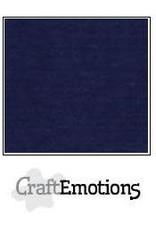 CraftEmotions linnenkarton 10 vel donker blauw 30,0x30,0cm