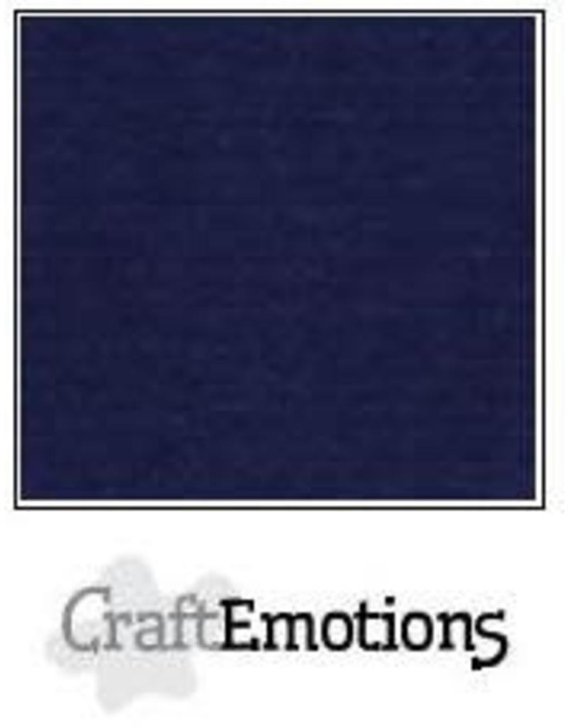 CraftEmotions linnenkarton  donker blauw 30,0x30,0cm