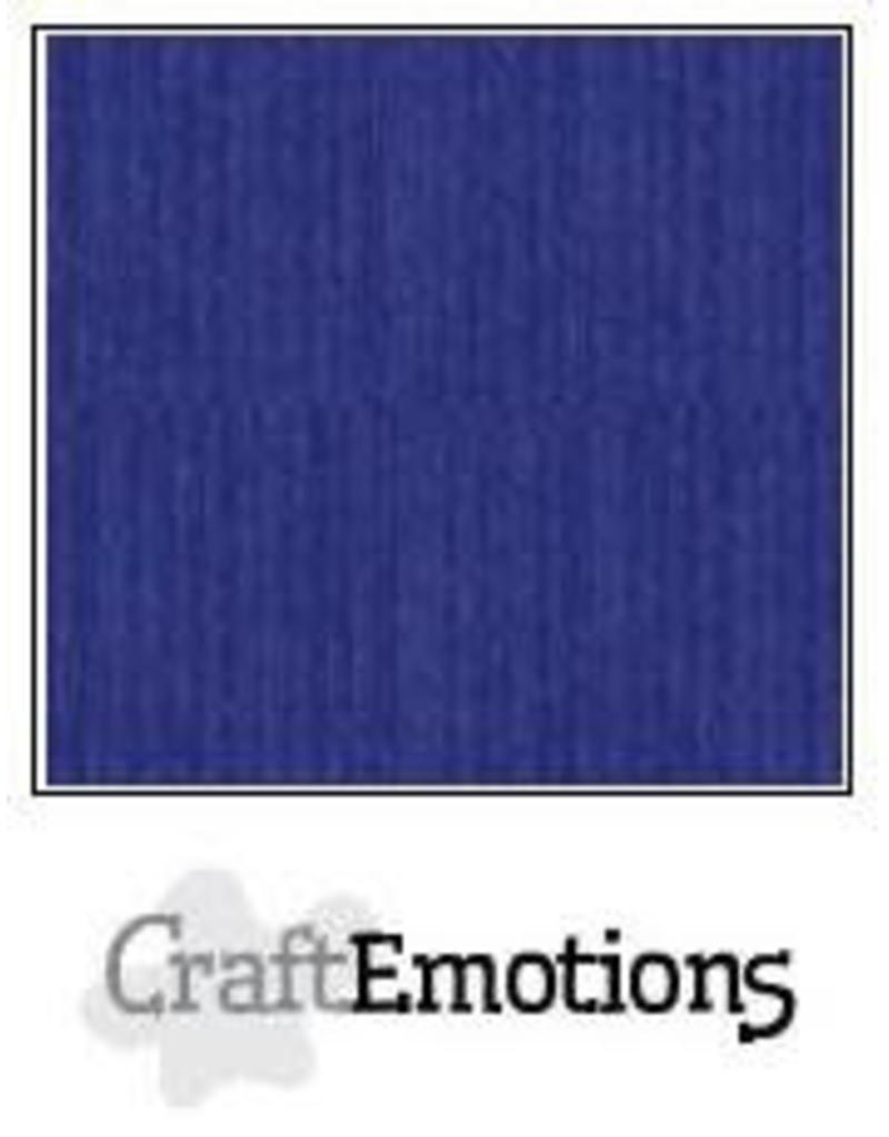 CraftEmotions linnenkarton 10 vel saffierblauw 30,0x30,0cm