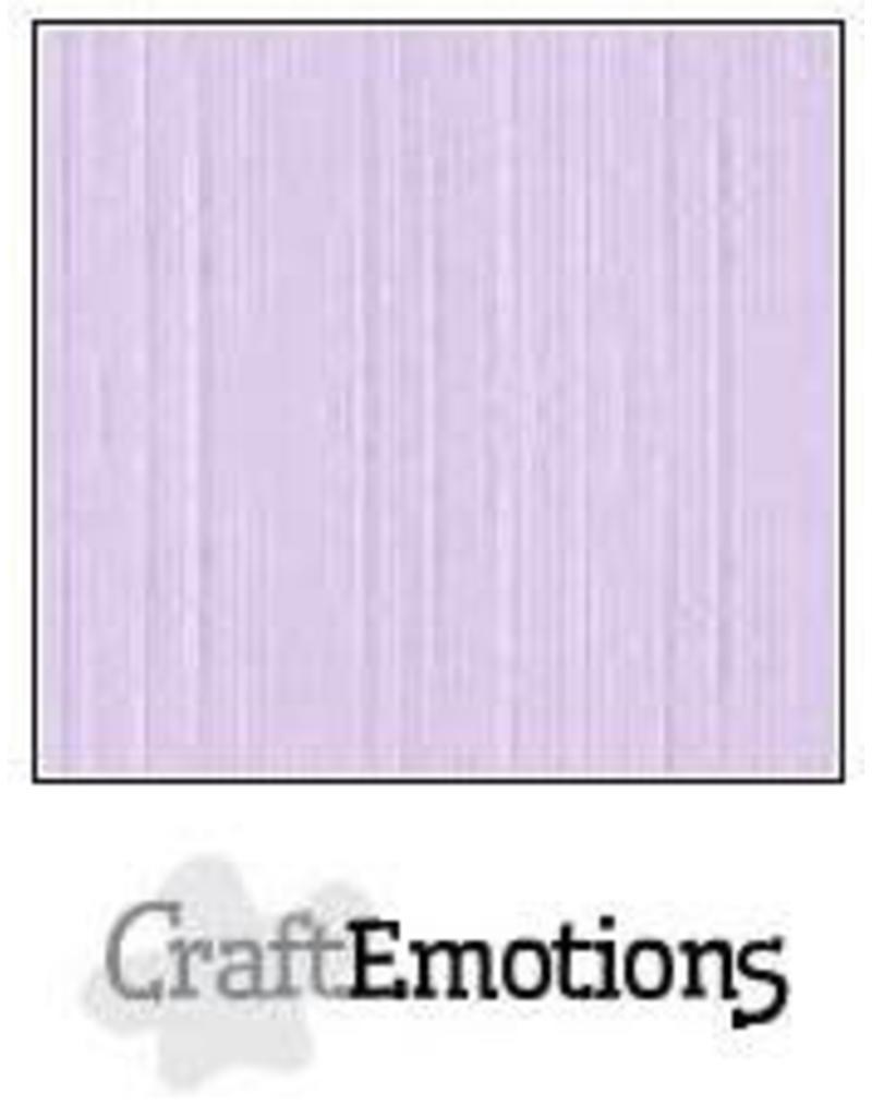 CraftEmotions linnenkarton 10 vel lavendel-pastel 30,0x30,0cm