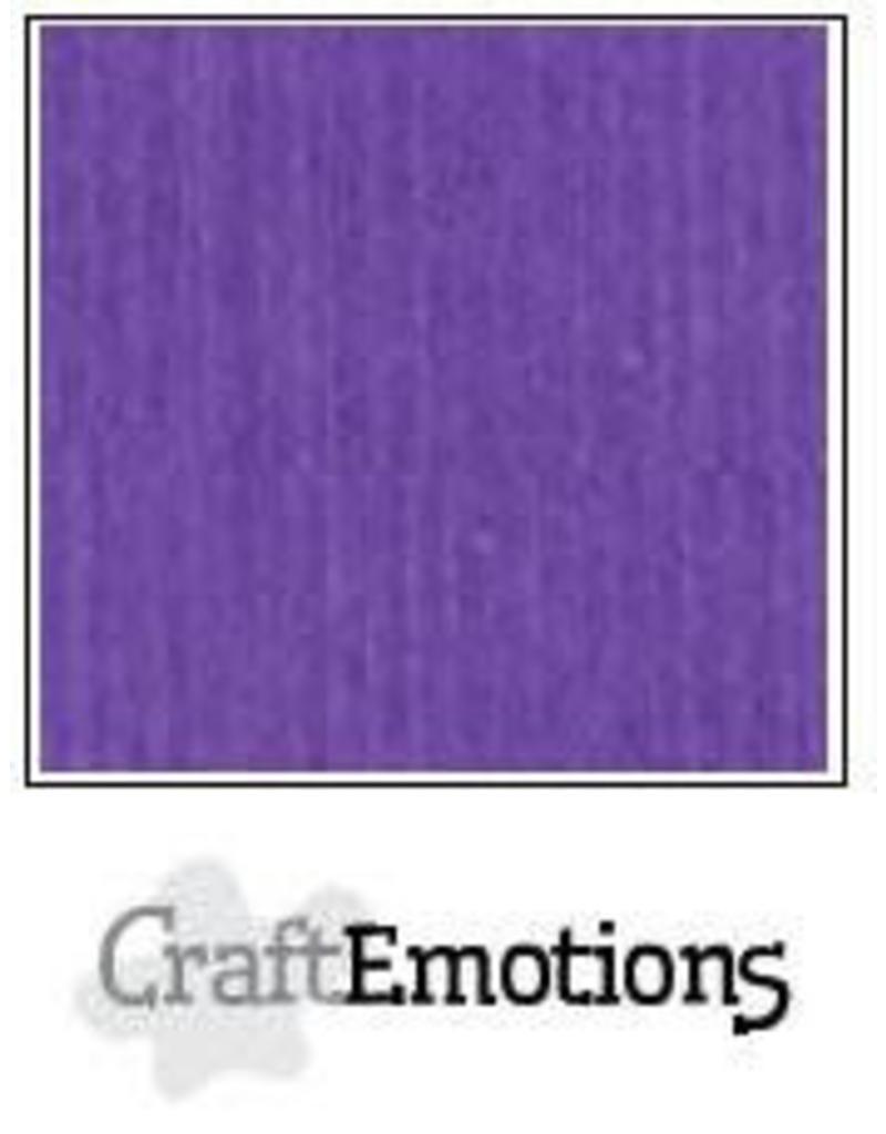 CraftEmotions linnenkarton 10 vel Purperviolet 30,0x30,0cm