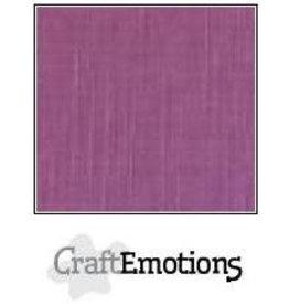 CraftEmotions linnenkarton 10 vel purper 30,0x30,0cm