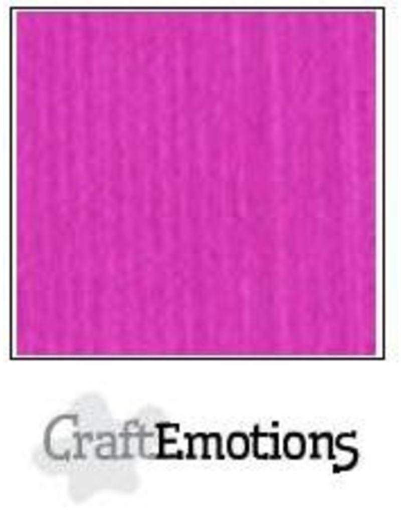 CraftEmotions linnenkarton 10 vel Koraalmagenta 30,0x30,0cm