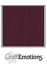Craft Emotions CraftEmotions linnenkarton  burgundy 30,0x30,0cm
