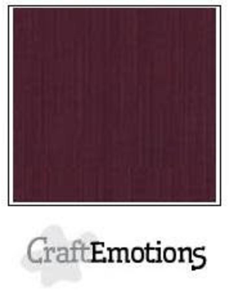 Craft Emotions CraftEmotions linnenkarton  burgundy 30,0x30,0cm
