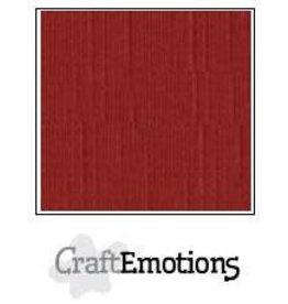 Craft Emotions CraftEmotions linnenkarton  donkerrood 30,0x30,0cm
