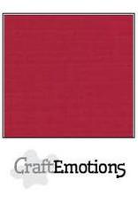Craft Emotions CraftEmotions linnenkarton  kerstrood 30,0x30,0cm