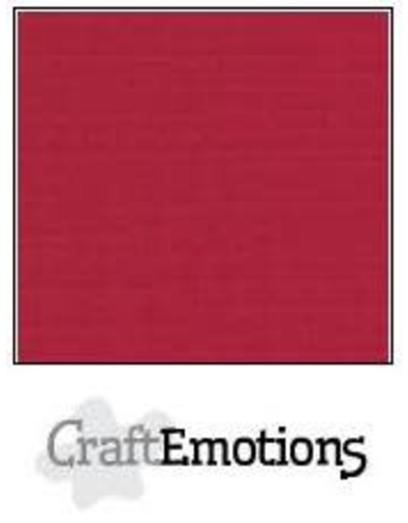 CraftEmotions linnenkarton 10 vel kerstrood 30,0x30,0cm