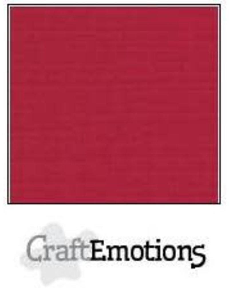 CraftEmotions linnenkarton  kerstrood 30,0x30,0cm