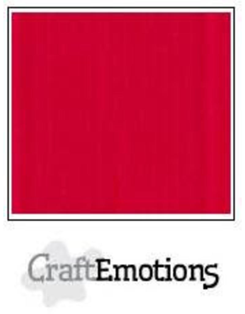 Craft Emotions CraftEmotions linnenkarton  vuurrood 30,0x30,0cm