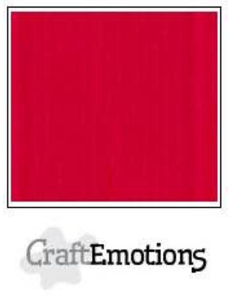 CraftEmotions linnenkarton  vuurrood 30,0x30,0cm