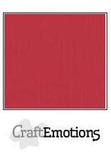 CraftEmotions linnenkarton 10 vel kersen rood 30,0x30,0cm