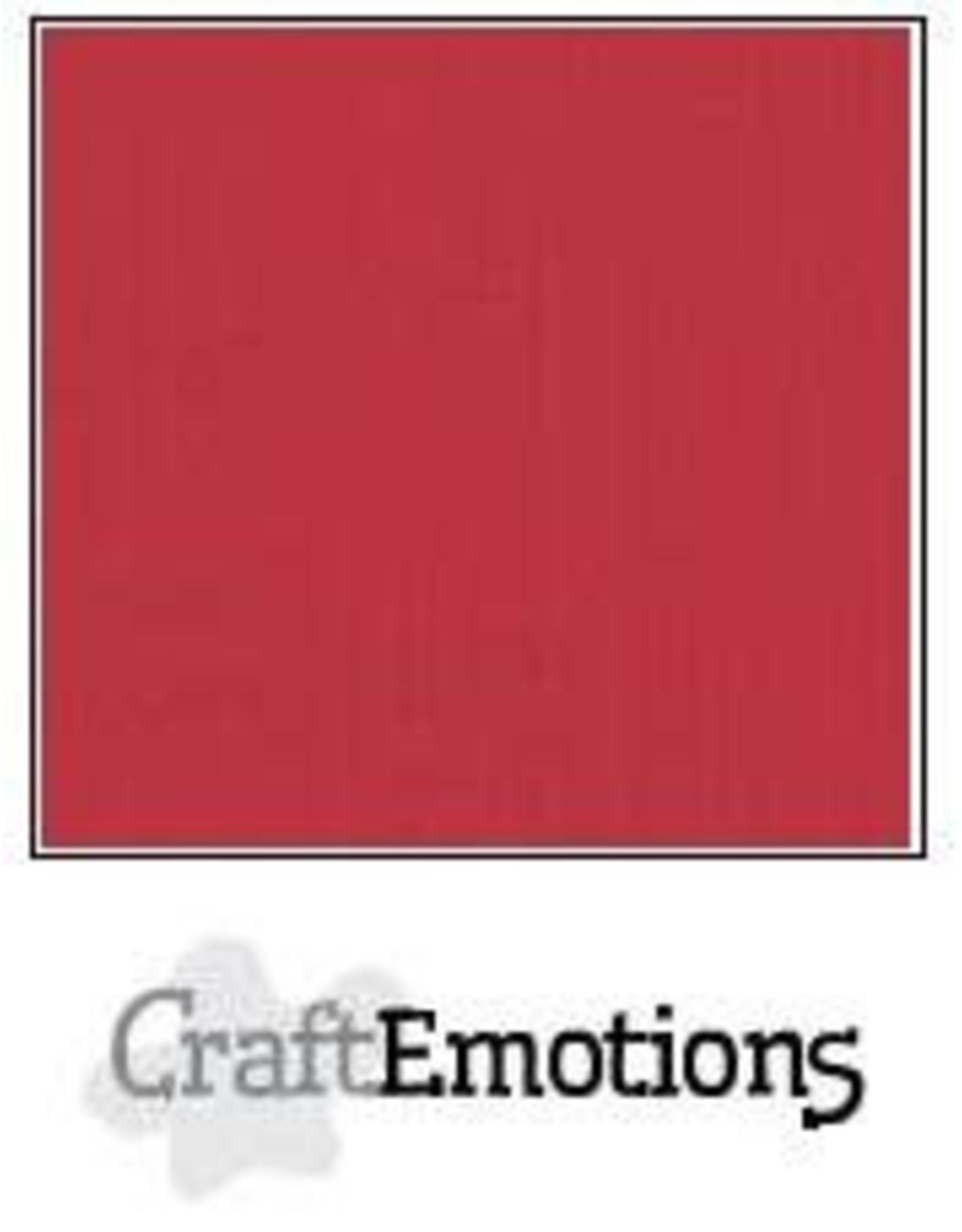 Craft Emotions CraftEmotions linnenkarton  kersen rood 30,0x30,0cm