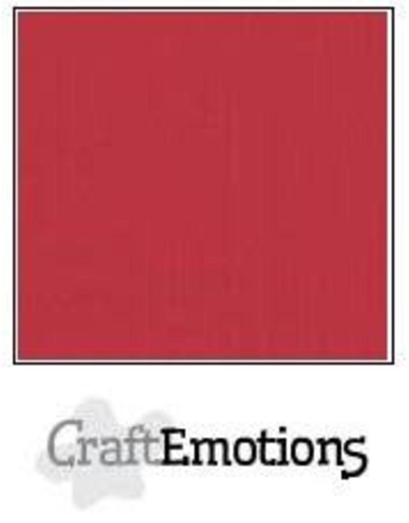 CraftEmotions linnenkarton  kersen rood 30,0x30,0cm
