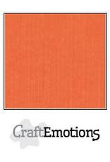 CraftEmotions linnenkarton 10 vel oranje 30,0x30,0cm