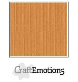 Craft Emotions CraftEmotions linnenkarton  toffee 30,0x30,0cm