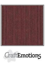 CraftEmotions linnenkarton mahoniebruin 30,0x30,0cm