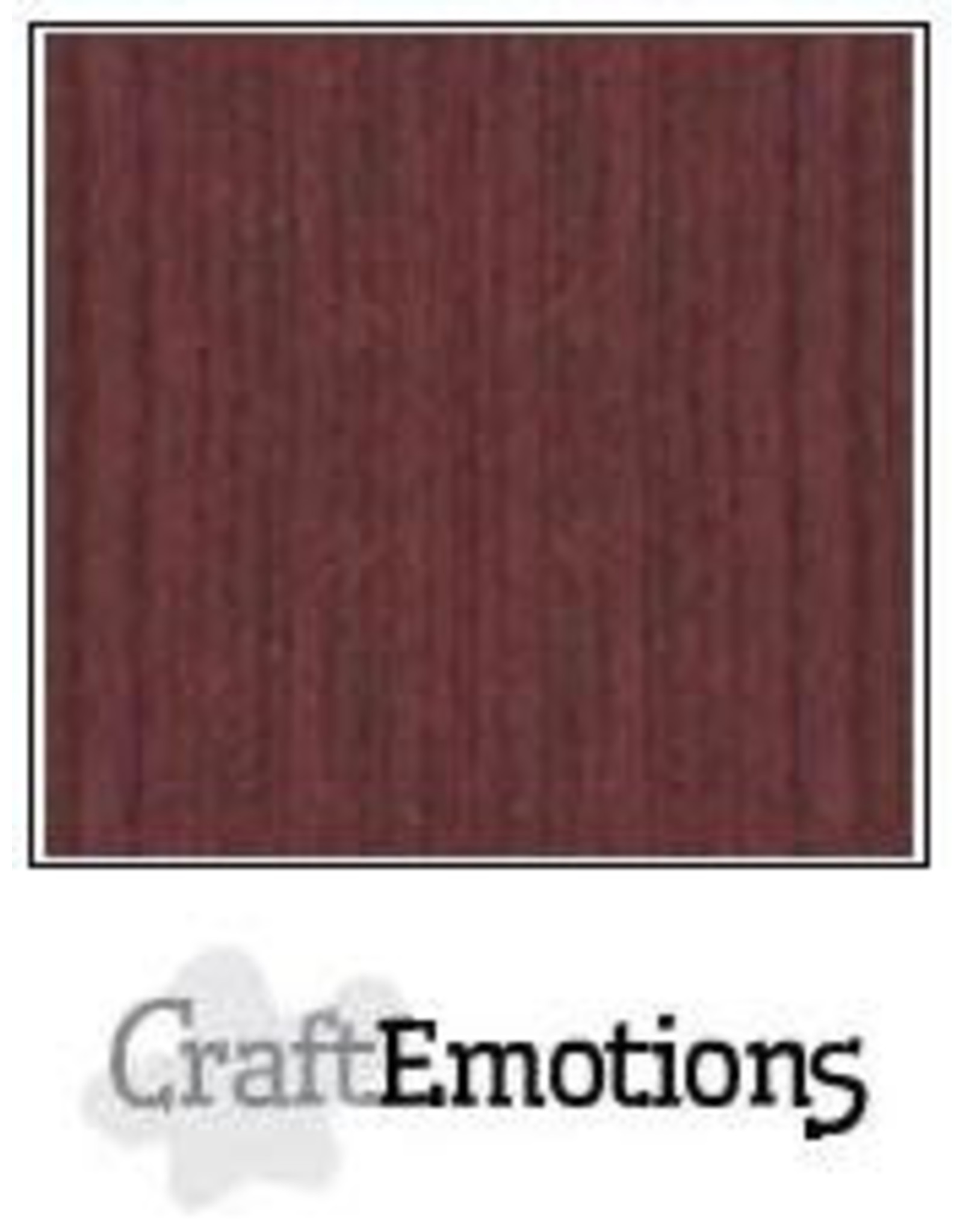 Craft Emotions CraftEmotions linnenkarton mahoniebruin 30,0x30,0cm