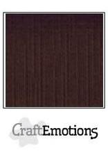 CraftEmotions linnenkarton 10 vel chocolade 30,0x30,0cm