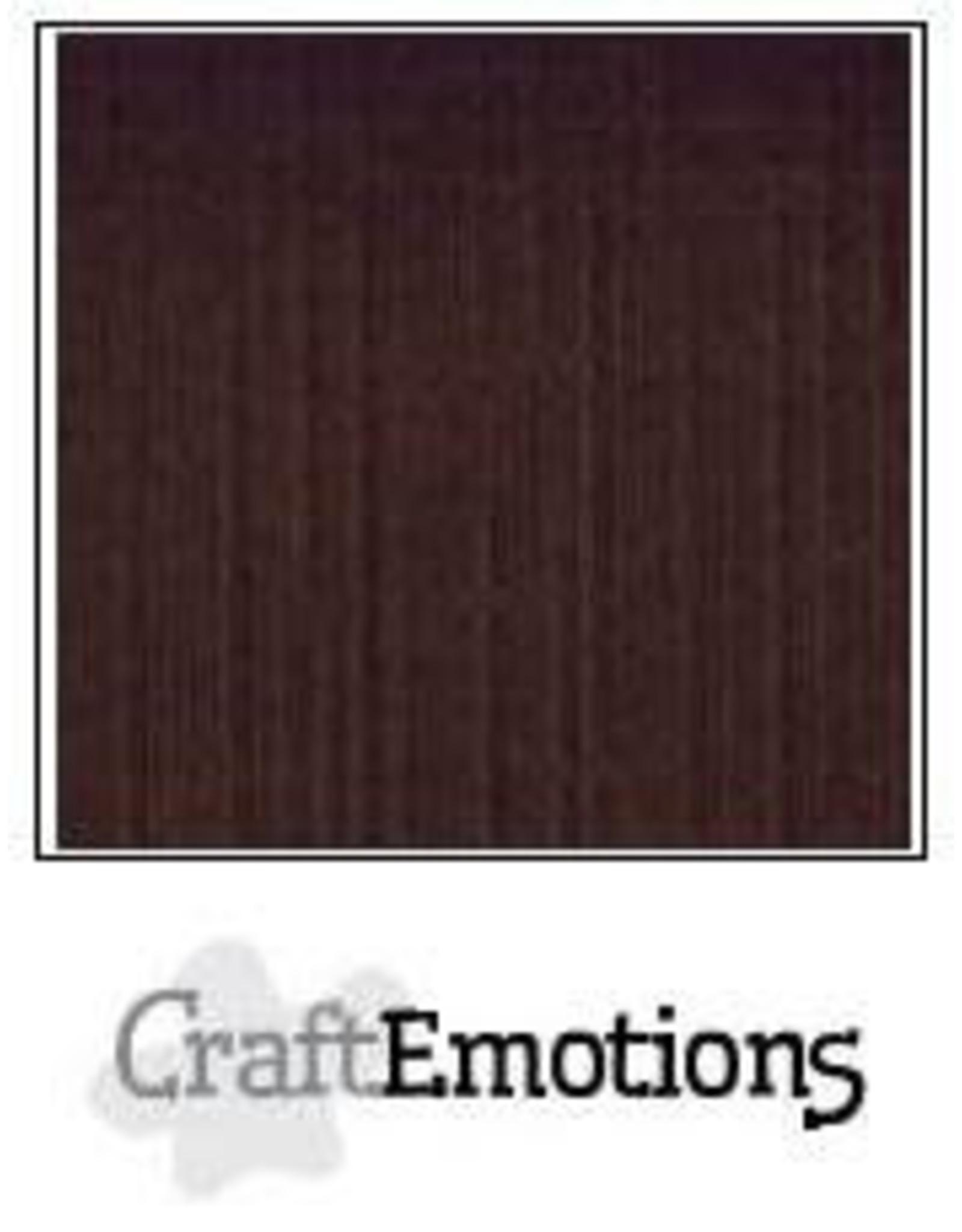 Craft Emotions CraftEmotions linnenkarton chocolade 30,0x30,0cm