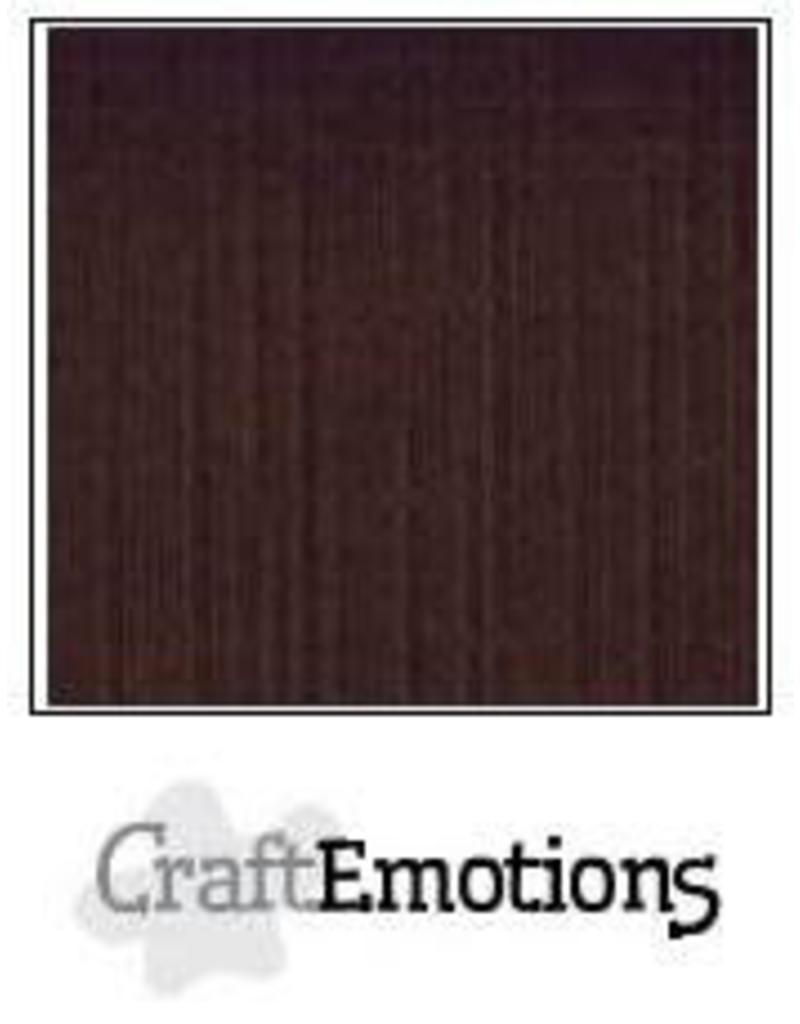 CraftEmotions linnenkarton chocolade 30,0x30,0cm