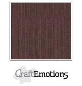 CraftEmotions linnenkarton 10 vel koffie 30,0x30,0cm